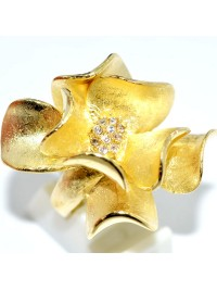 Anel Flower Gold Design