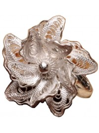 Anel Silver Flower